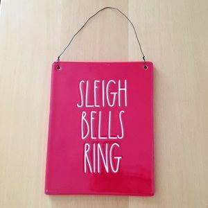Rae dunn christmas plaque sleigh bells ring